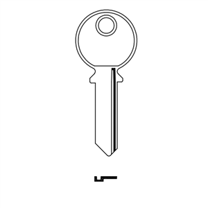 Klucz surowy M&D do kłódek żeliwnych 50, 60, 70 lewy