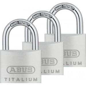 KPL 3 szt. Kłódka aluminiowa 40mm ABUS 727 TITALIUM™