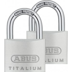 KPL 2 szt. Kłódka aluminiowa 40mm ABUS 727 TITALIUM™