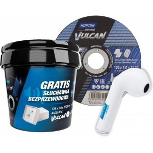 Pakiet 100 tarcz NORTON VULCAN 125x1 + słuchawka bezprzewodowa