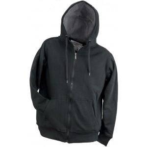 Bluza ocieplana z kapturem czarna Urgent RN-135613 L