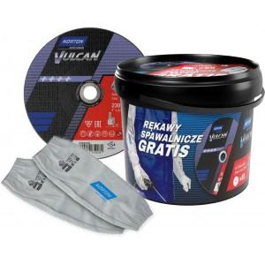 Pakiet 50 tarcz NORTON VULCAN 230x1,9 + rękawy spawalnicze