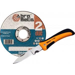 Pakiet 50 tarcz AbraBeta 125x1,0 + nóż Beta 1777BM