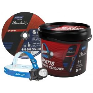 Pakiet 50 tarcz NORTON Starline 230x1,9 + latarka czołowa