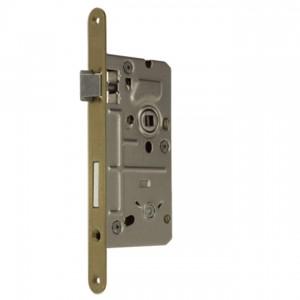 Zamek do drzwi 72/50 wpuszczany łazienkowy wersja stolarska Metalplast Częstochowa 18x210 lewy