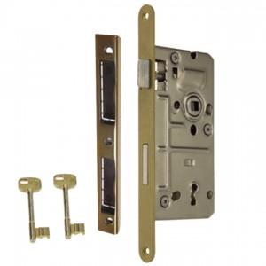 Zamek do drzwi 90/50 wpuszczany na klucz Metalplast Częstochowa  prawy