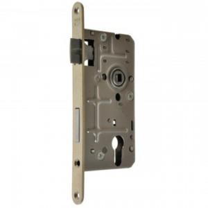 Zamek do drzwi 72/50 wpuszczany na wkładkę bębenkową wersja stolarska Metalplast Częstochowa 18x210 prawy