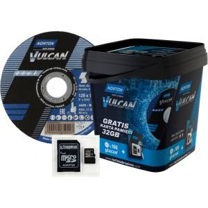 Pakiet 100 tarcz NORTON VULCAN 125x1 + karta pamięci 32 GB