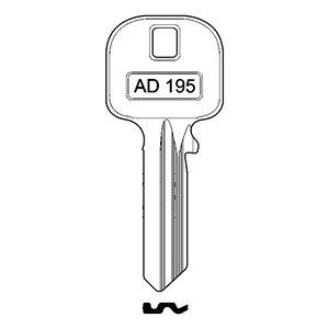 Klucz surowy LOB YETI AD195 do WY500 i 501 lewy profil  10szt