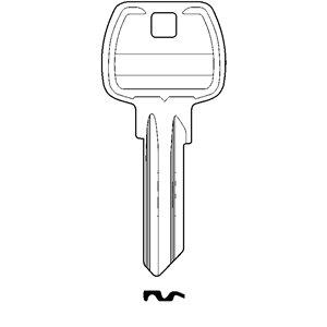 Klucz surowy GERDA Europrofil do wkładek E1 krótki 10szt