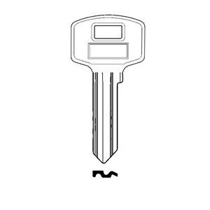 Klucz surowy do wkładki A2 4 zastawki kwadrat 10szt
