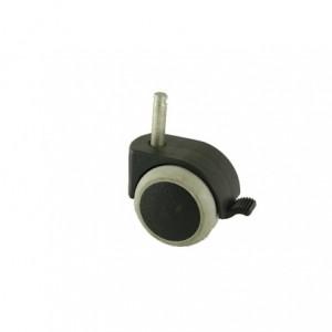 Kółko meblowe gumowe 50mm z trzpieniem fi-8 z hamulcem