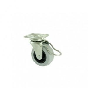 Rolka gumowa meblowa 50mm na łożysku z hamulcem