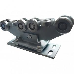 Wózek do bramy przesuwnej profil 80x80 10 kółek stalowych regulowany wahliwy