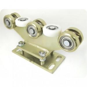 Wózek do bramy przesuwnej profil 80x80 8 kółek stalowych regulowany ZABI R-8M-80