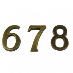 """Cyfra """"6"""" przyklejana 45 mm patynowa"""