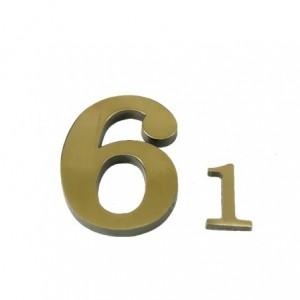 """Cyfra """"1"""" 45 mm patynowa"""