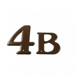 """SONEX Litera """"B"""" 150 mm brązowa"""