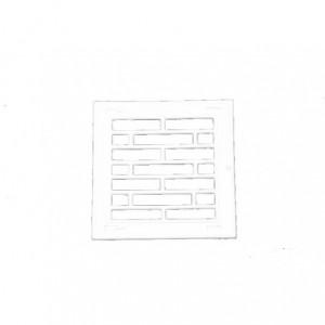 Osłona wentylacyjna 14x14 mm bez żaluzji