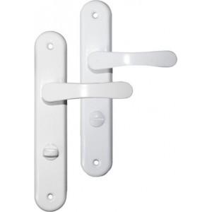 Klamka 72 WC z podłużnym szyldem D kolor biały