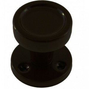 Gałka z okrągłym szyldem Gamar Lilia kolor czarny