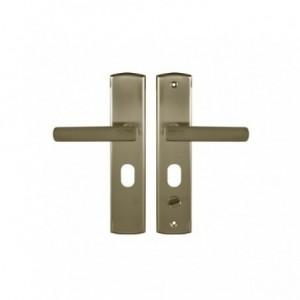 Klamka do drzwi lewa 68 WB z podłużnym szyldem patyna GAMAR APO