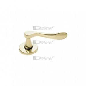 Klamka z okrągłym szyldem Metal-Bud Łyżeczka kolor mosiądz