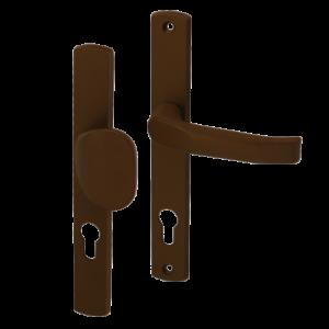 Klamko-uchwyt 85 WB z podłużnym szyldem Gamar Diana kolor brązowy