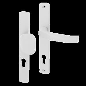 Klamko-uchwyt 72 WB z podłużnym szyldem Gamar Diana kolor biały