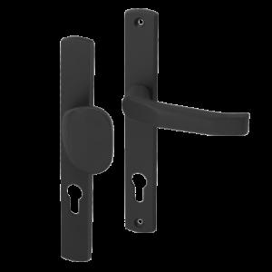 Klamko-uchwyt 72 WB z podłużnym szyldem Gamar Diana kolor czarny