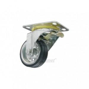 Koło d-160 z hamulcem skrętne metalowo-gumowe 45H
