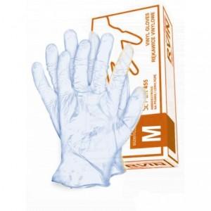 Rękawice jednorazowe winylowe niebieskie RVIN-N M