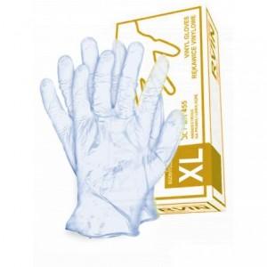 Rękawice jednorazowe winylowe niebieskie RVIN-N XL