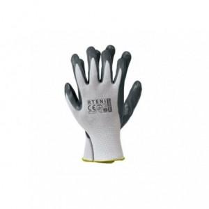 Rękawice robocze, poliestrowe, powlekane nitrylem RTENI 10