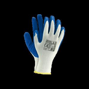 Rękawice robocze wykonane z poliestru powlekane lateksem RTELA-WN 10