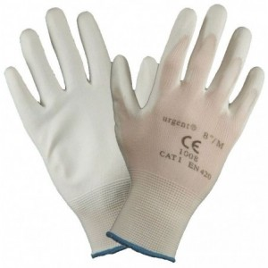 Rękawice robocze poliester powlekane poliuretanem białe URGENT 1008 9