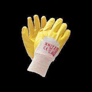 Rękawice ochronne powlekane nitrylem lekkie żółte RNITZ 9