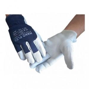 Rękawice robocze kozia skóra lico HAND FLEX 10