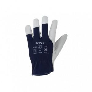 Rękawice robocze monterskie kozia skóra lico PONY 8