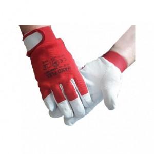 Rękawice robocze kozia skóra lico rzep HAND FLEX 10