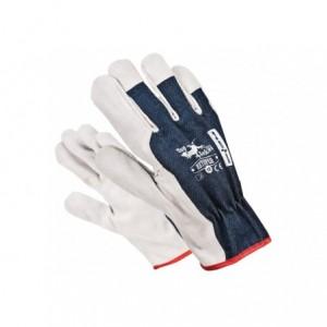 Rękawice robocze wzmacniane dwoiną bydlęcą RBTOPER 10