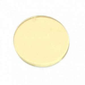 Szybka ochronna z powłoką szkło przeciwodpryskowe żółte do gogli spawalniczych fi-50