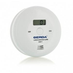 Czujnik czadu z wyświetlaczem LCD zasilany na baterie GERDA C11