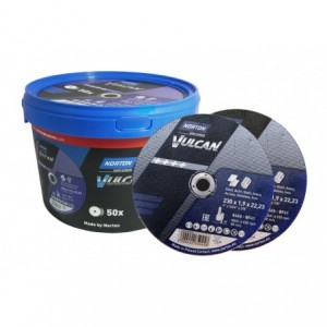 Tarcza do cięcia metal/inox Vulcan 230x1.9x22.23 zestaw 50szt.