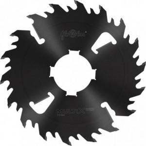 Piła HM MULTIX PRO Twin 0400x80x4,4/3,0/18+4z 2GS 4(20x6) do cięcia drewna świeżego na wielopiłach i trakach tarczowych GLOBUS