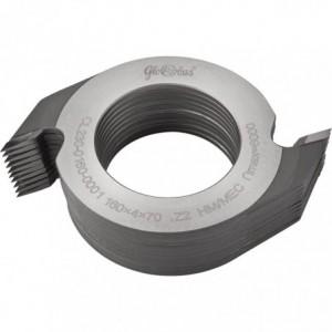 Zestaw frezów HM nasadzanych do złącz wieloklinowych 0160x70x4/2z GLOBUS